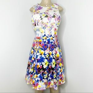 MAGGY LONDON Floral Sleeveless Dress Size 16